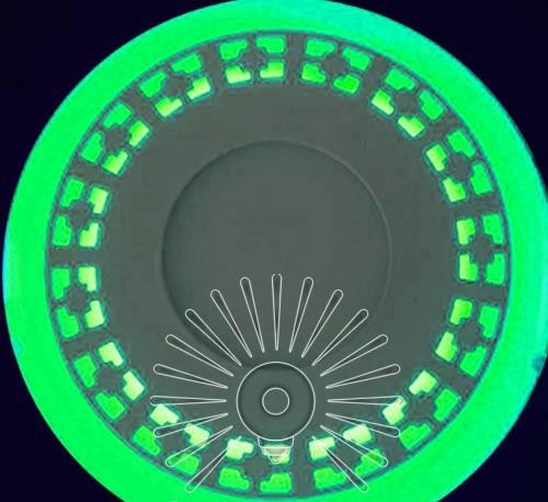 "LED панель Lemanso ""Кубики"" 6+3W с зелёной подсв. 540Lm 4500K / LM541"