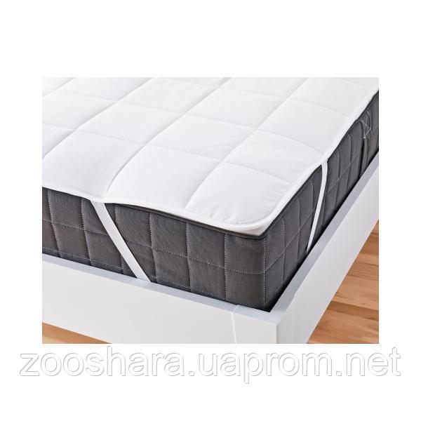 Наматрасник на резинках по углам стеганый на хлопке Comfort Night 180x200см