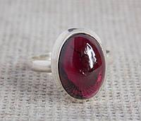 Серебряное кольцо с гранатом 18 размера. Кольцо с альмадином