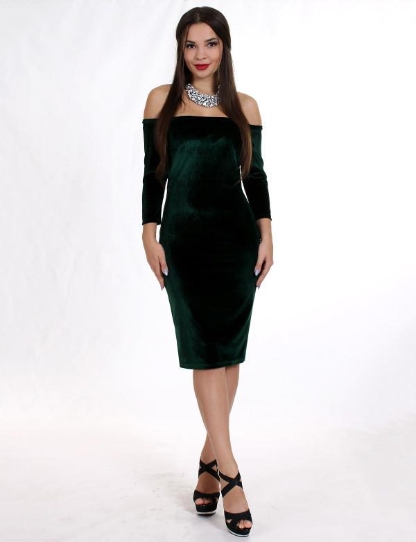 Платье женское зелёное вечернее ENIGMA MKENP 0906
