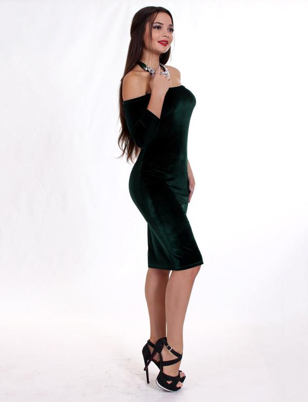Плаття жіноче зелене вечірнє ENIGMA MKENP 0906, фото 2
