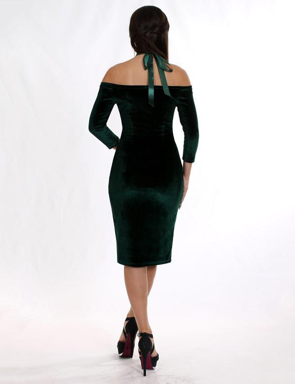 Плаття жіноче зелене вечірнє ENIGMA MKENP 0906, фото 3