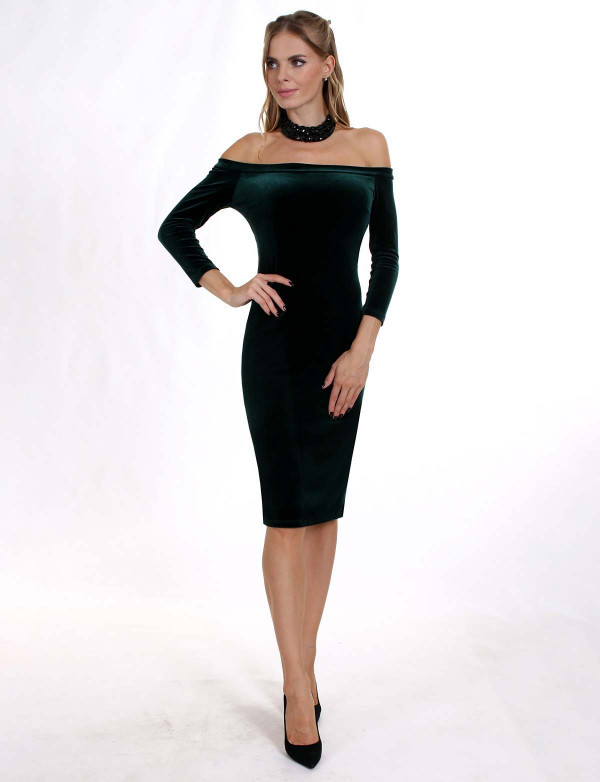 Плаття жіноче зелене вечірнє ENIGMA MKENP 0906, фото 4