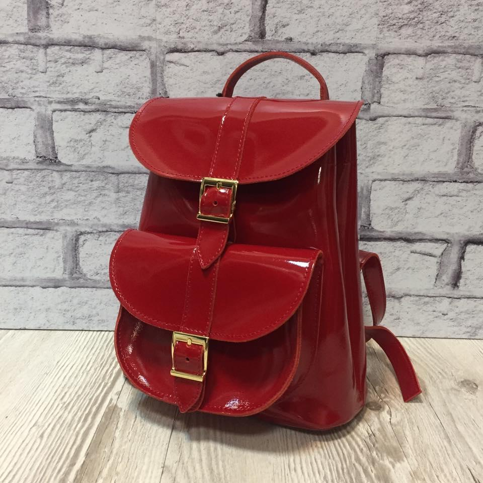 42ff1655bbd8 Рюкзак женский VITTORIA натуральная кожа,красный лаковый: 1 720 грн ...