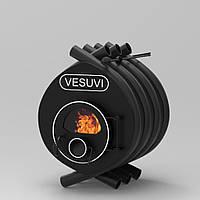 Печь калориферная на дровах «Vesuvi» classic «01» стекло или перфорация