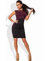 Эксцентричное черно-бордовое платье