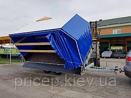 Причіп платформа самоскид + автовоз 4м х 1,8 м х 2м. Гальмівні торсіони.
