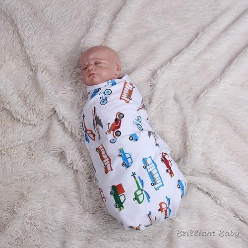 Байковая пеленка для новорожденных Машинка