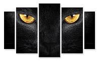 Модульная картина глаза кошки