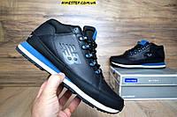 Зимние мужские ботинки+кроссовки New Balance 754 черные с синим