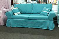 Мягкая кухонная мебель с местом для сна в ткани голубого цвета, фото 1