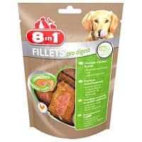 8in1 (8в1) Fillets Pro Digest S 80г – Здоровье пищеварительной системы - лакомство для собак
