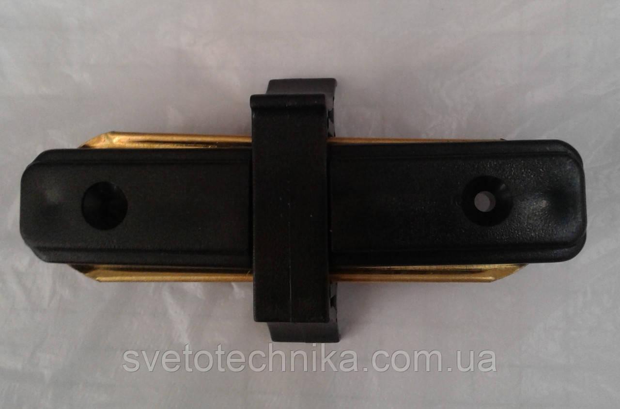 Feron LD1000 черный Коннектор прямой