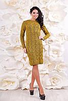 Женское вязаное платье теплое ВП-1086  Тон 30