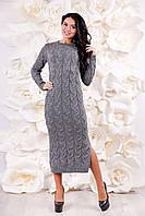 Женское вязаное платье длинное ВП-1094  Тон 23