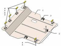 Защита двигателя Дайхатсу Материя / Daihatsu Materia 2006-