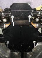 Защита двигателя Форд Куга / Ford Kuga защита редуктора заднего моста 2008-2013, фото 1