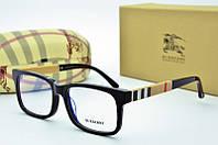 Burberry оправа очки прямоугольные черные с жело-белым принтом