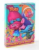 "491300 Папка для труда картоная А4 ""Trolls"""