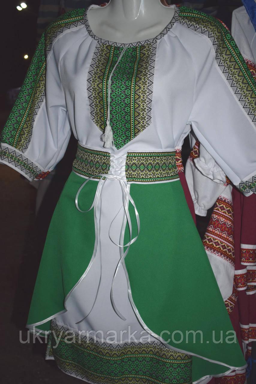 """Костюм в українському стилі """"Роксолана"""" зелений"""