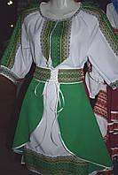 """Костюм в українському стилі """"Роксолана"""" зелений, фото 1"""