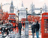 Рисование по номерам (на цветном холсте) DIY Babylon Premium Очарование лондона (NB441) 40 х 50 см