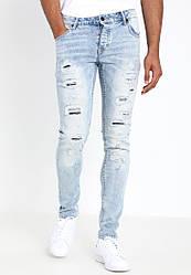 Мужские светлые джинсы skinny Dexter от !Solid (Дания) в размере W28/L32