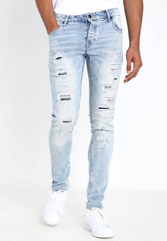 Мужские светлые джинсы skinny Dexter от !Solid (Дания) в размере W33/L32, фото 2