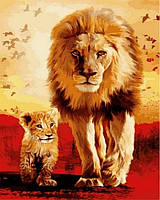 Рисование по номерам (на цветном холсте) DIY Babylon Premium Отец и сын (NB811) 40 х 50 см