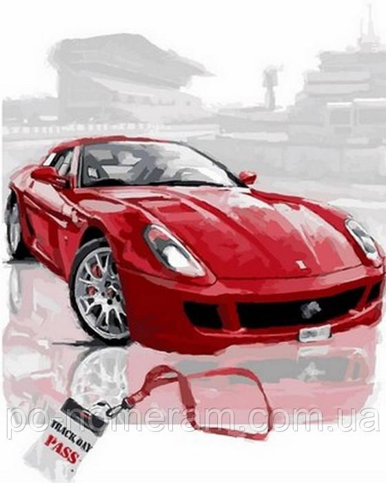 картины по номерам машины красный феррари Vp806 40 х 50 см Diy Babylon