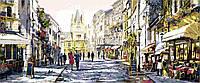 Триптих по номерам Триптих Летний вечер в Париже (VPT026) 50 х 150 см DIY Babylon