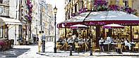 Триптих по номерам Полдень в Париже (VPT028) 50 х 150 см DIY Babylon