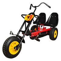 Детский  карт- трицикл М 1506-3, желто-красный