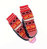 Теплые детские носки SLIPPER 007-красныее