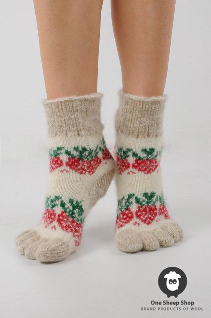 Шерстяные носки женские, вязаные гольфы