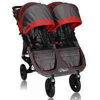 Baby Jogger Прогулочная коляска для двойни city mini Double GT Shadow/crimson