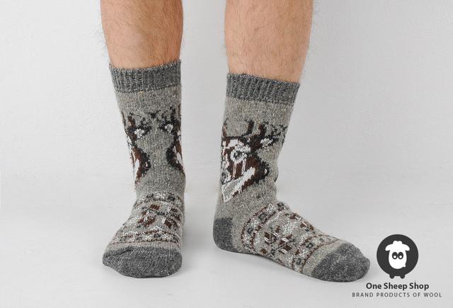 Шерстяные носки мужские