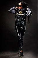 Женский костюм с эко кожей Style street