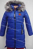 Зимняя подростковая куртка на девочку электрик