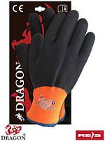 Перчатки рабочие утепленные с латексным покрытием Dragon Reis Польша WINFULL3 PB