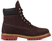 Мужские ботинки Timberland 6 inch Brown (Тимберленд) коричневые