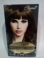"""Гель-фарба для волосся """"Славия"""" тон каштан темний (код відтінку 240)"""