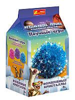 """Выращиваем кристаллы """"Ледниковый Период"""" (синий)"""