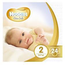 Подгузники Huggies Elite Soft (Хаггис Элит Софт)  Newborn 2 (4-7 кг), 24 шт.
