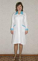 Халат багардин медицинский белый, купить или заказать пошив халат медсестры, врача, хирурга