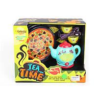 Дитячий посуд: чайний сервіз, піца, музика, світло