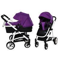 Детская коляска 2 в 1 Carrello Fortuna crl-9001, универсальная, прогулочная, книжка, purple