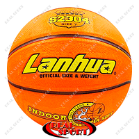 Баскетбольный мяч №7 Lanhua S2304 Super soft Indoor (резина, бутил, оранжевый)