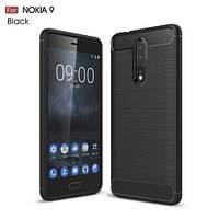 Чехол накладка TPU Fiber Carbon для Nokia 8 черный