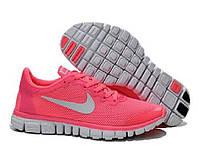 Кроссовки женские Nike Free Run 3.0 v2  розовые